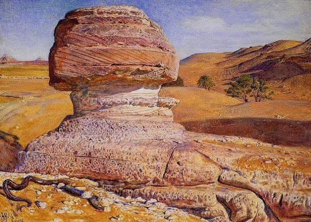 The Sphinx at Gizeh - William Holman Hunt