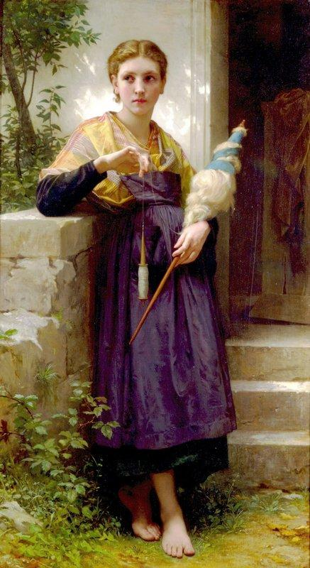 The Spinner - William-Adolphe Bouguereau