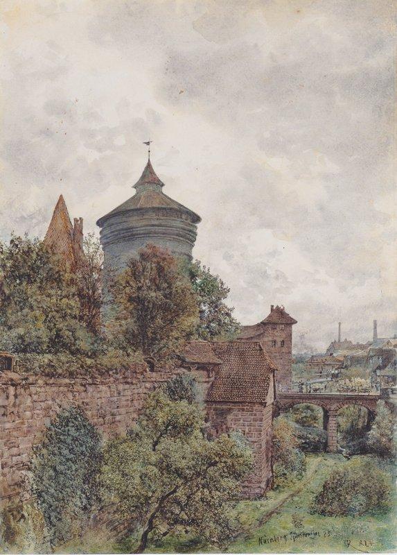 The Spittler in Nuremberg - Rudolf von Alt