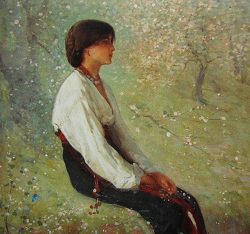 The Spring (Detail) - Nicolae Grigorescu