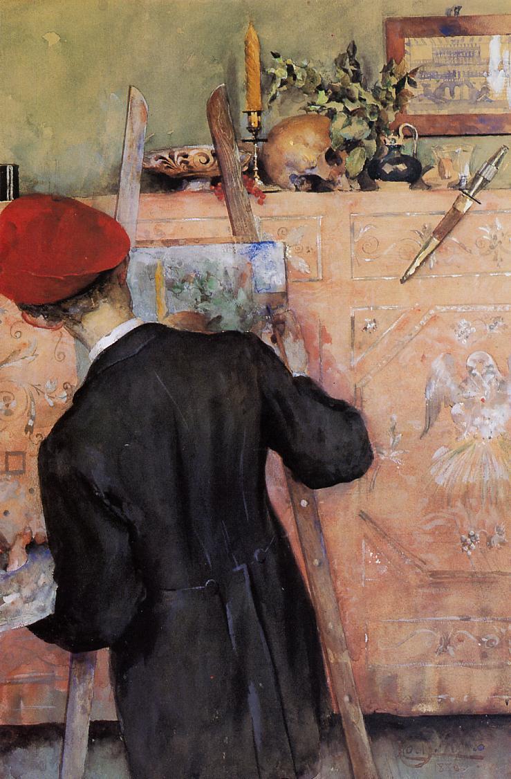 The Still Life Painter - Carl Larsson