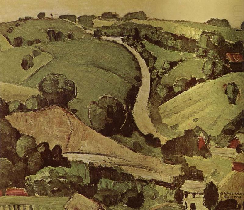 The Stone of Wall 1 - Grant Wood