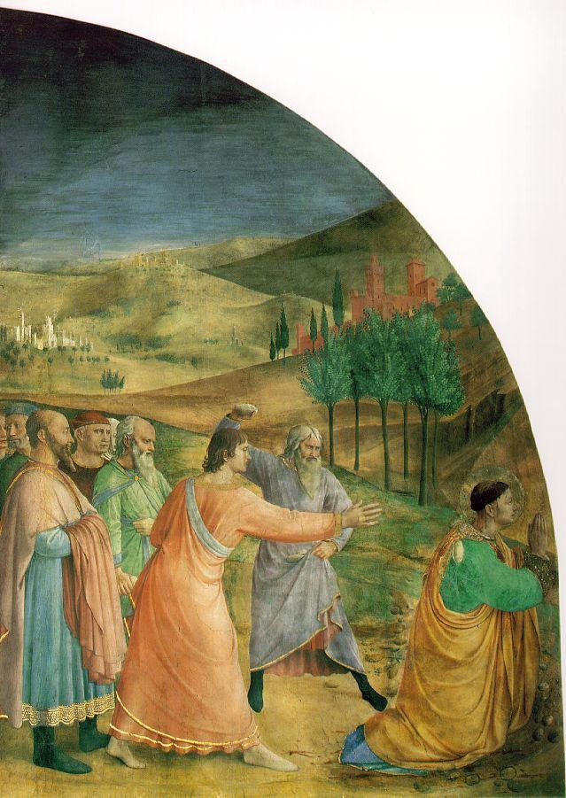 The stoning of Stephen - Fra Angelico
