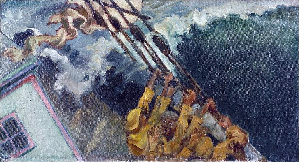 The storm  - Akseli Gallen-Kallela