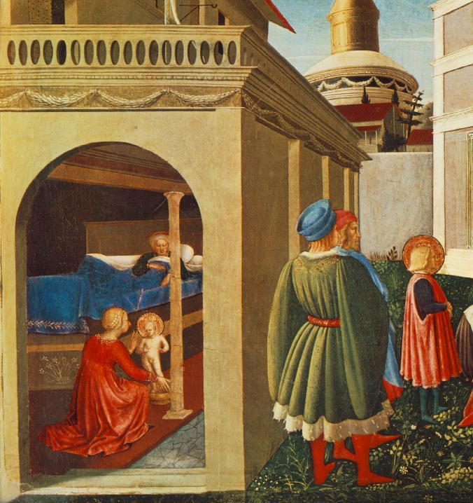 The Story of St. Nicholas. Birth of St. Nicholas - Fra Angelico