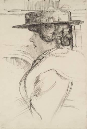 The straw hat - Nikolaos Lytras