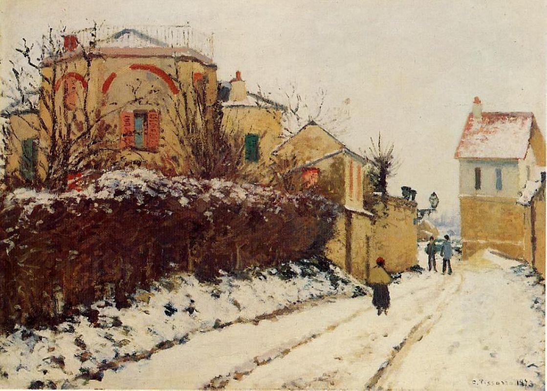 The street of the Citadelle, Pontoise - Camille Pissarro