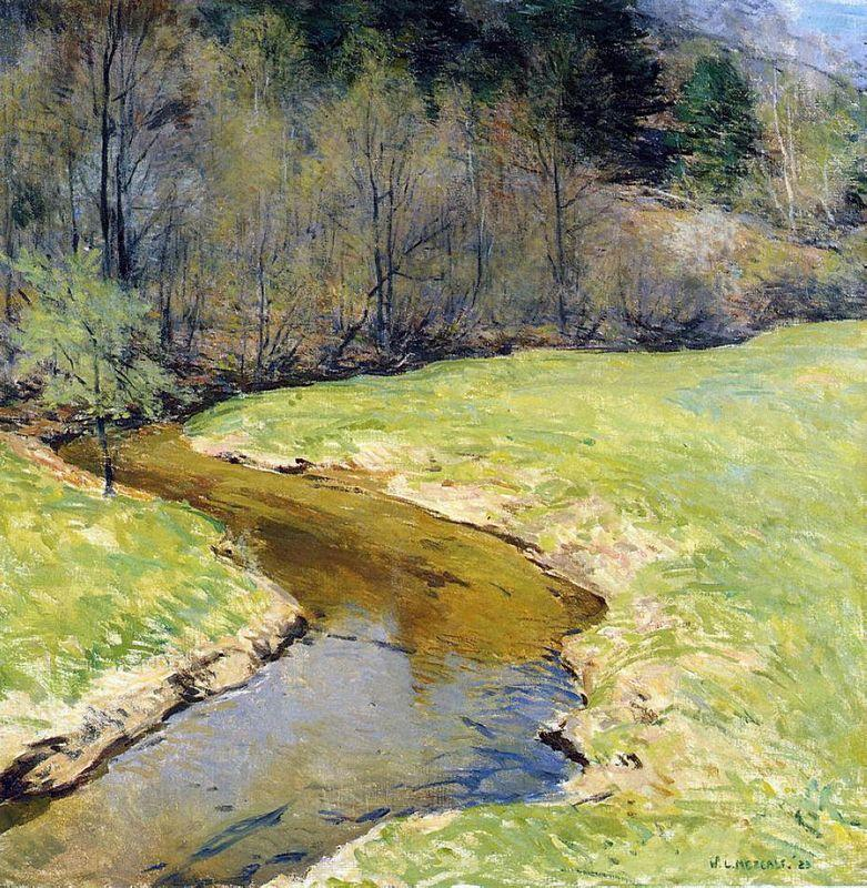 The Sunny Brook, Chester, Vermont - Willard Metcalf