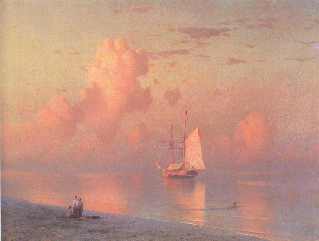The sunset - Ivan Aivazovsky