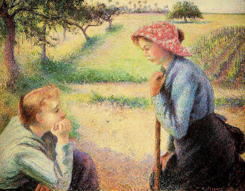 The talk - Camille Pissarro