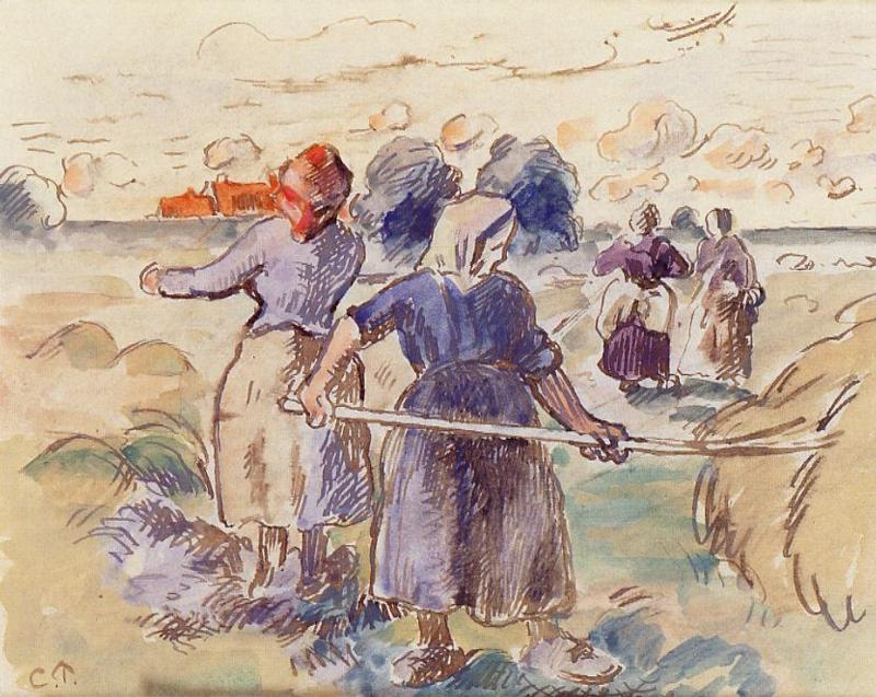 The Tedders - Camille Pissarro