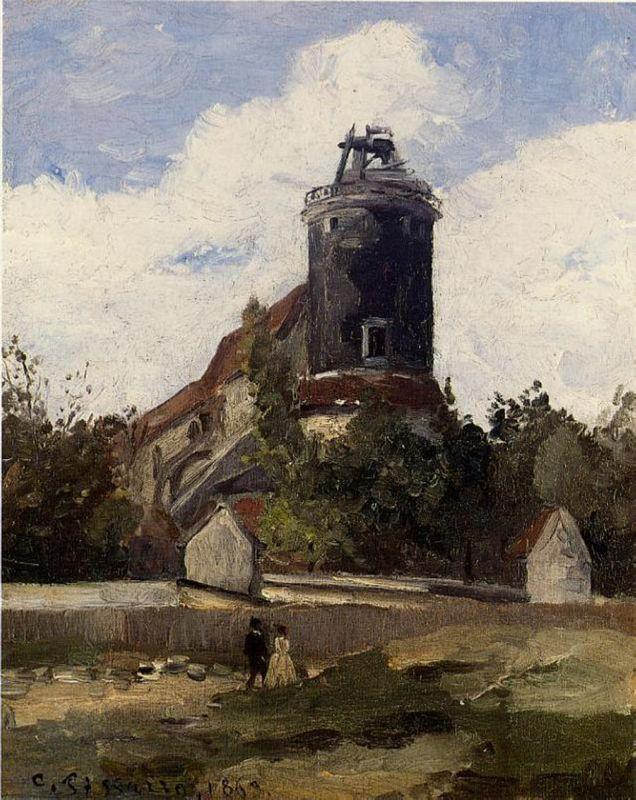 The Telegraph Tower at Montmartre - Camille Pissarro