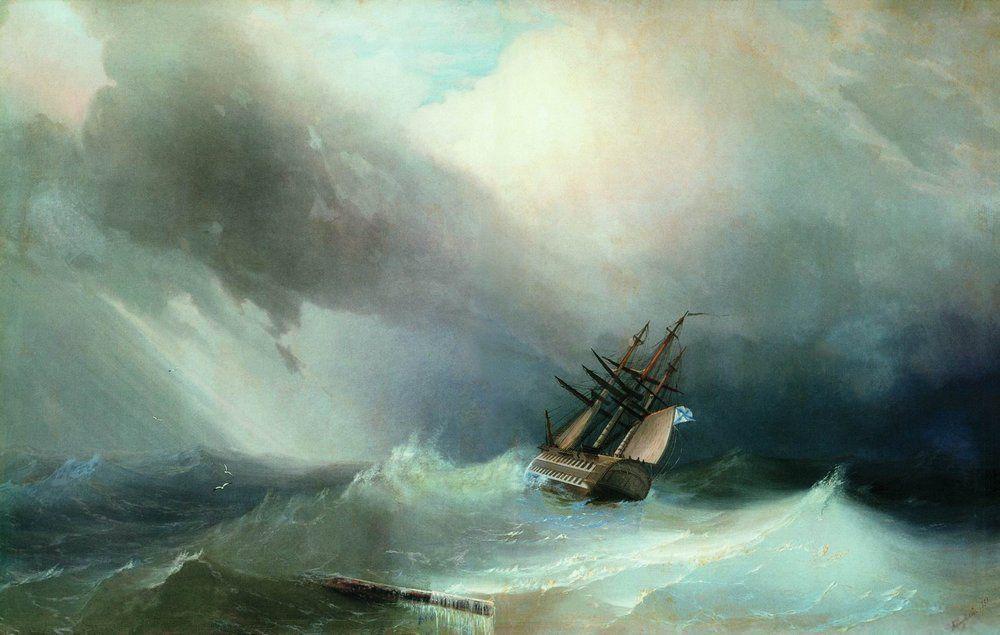 The Tempest  - Ivan Aivazovsky