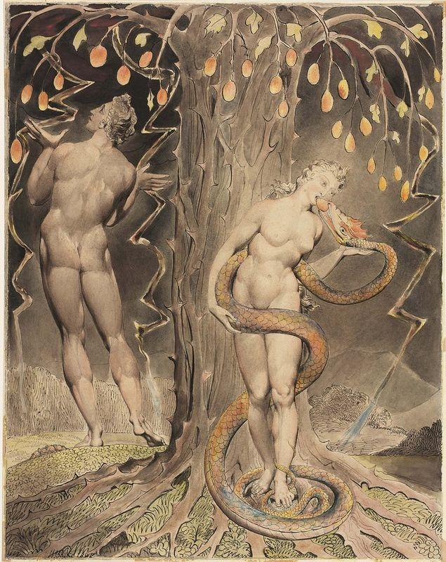 The Temptation and Fall of Eve - William Blake