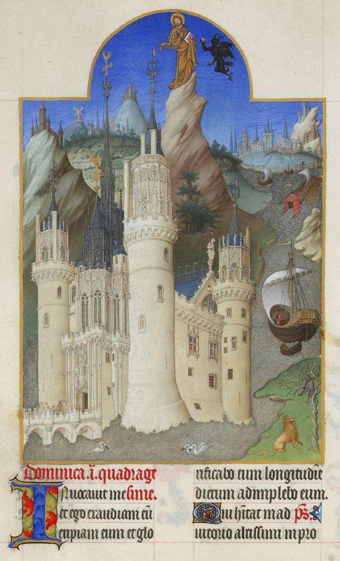 The Temptation of Christ - Limbourg brothers