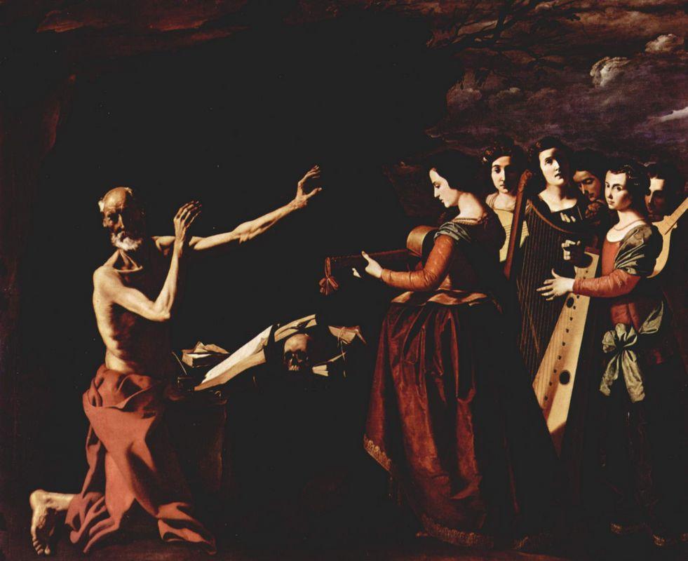 The temptation of St. Jerome - Francisco de Zurbaran