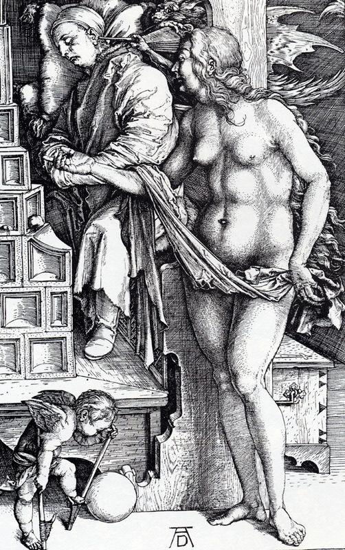 The Temptation of the Idler - Albrecht Durer