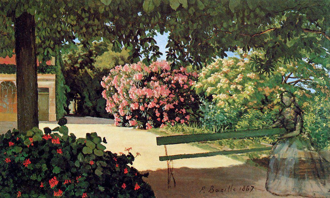 The Terrace at Meric (Oleander) - Frederic Bazille