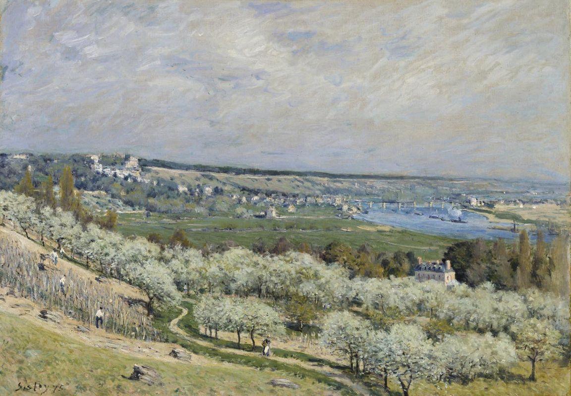 The Terrace at Saint Germain, Spring - Alfred Sisley