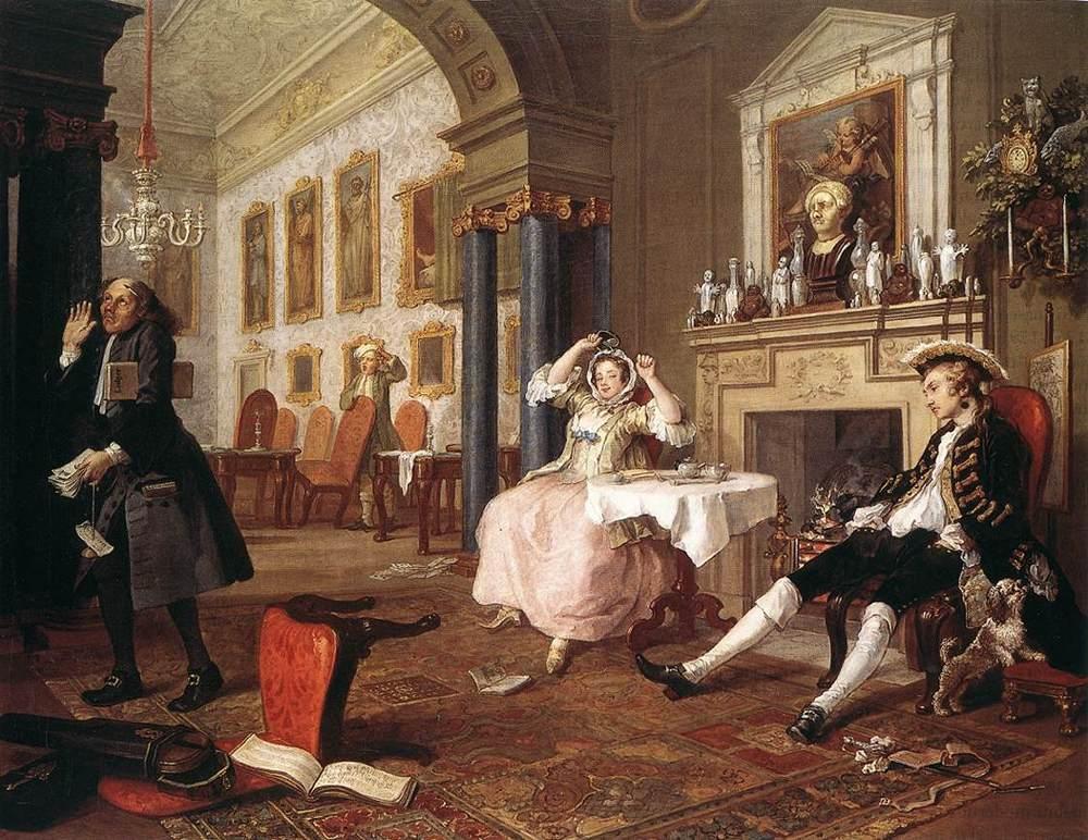 The Tete-a-Tete - William Hogarth