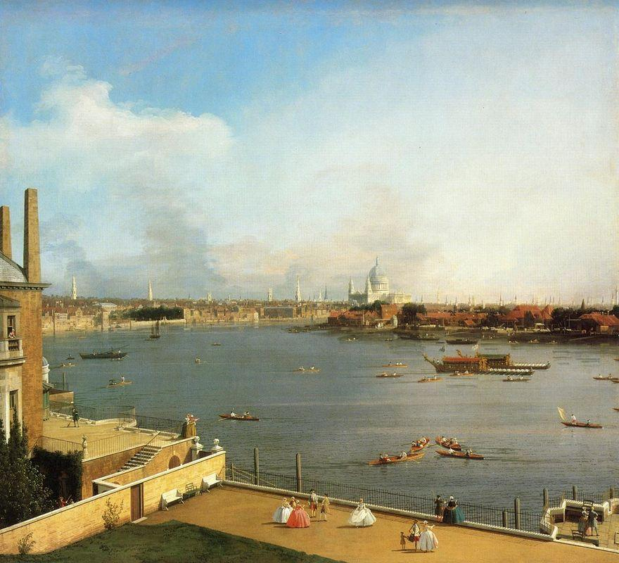 The Thames and the City of London from Richmond House - Canaletto