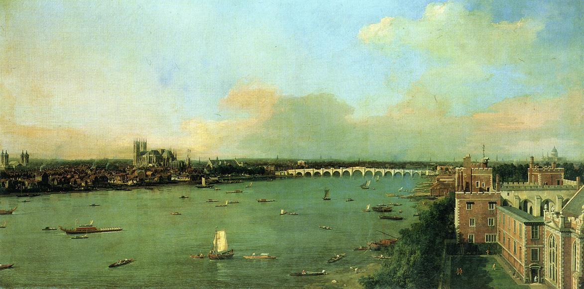 The Thames with St. Paul's Cathedral - Canaletto