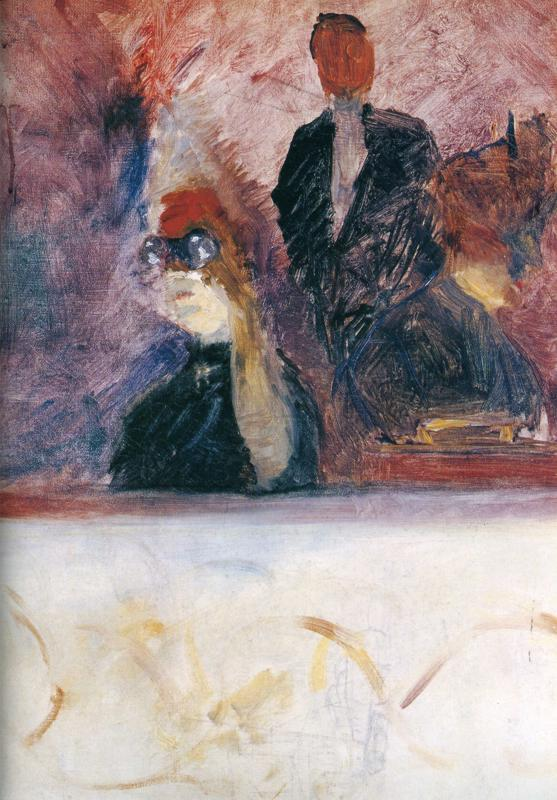 The Theater Box with the Gilded Mask - Henri de Toulouse-Lautrec
