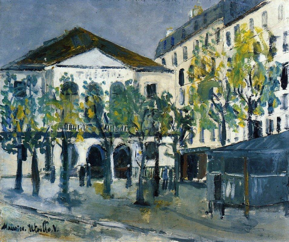 The Theatre l'Atelier - Maurice Utrillo