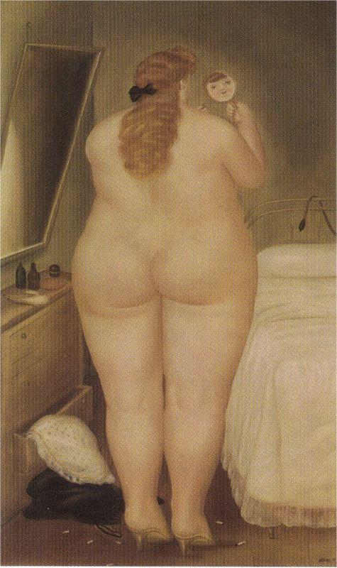 The Toilet in the Morning - Fernando Botero