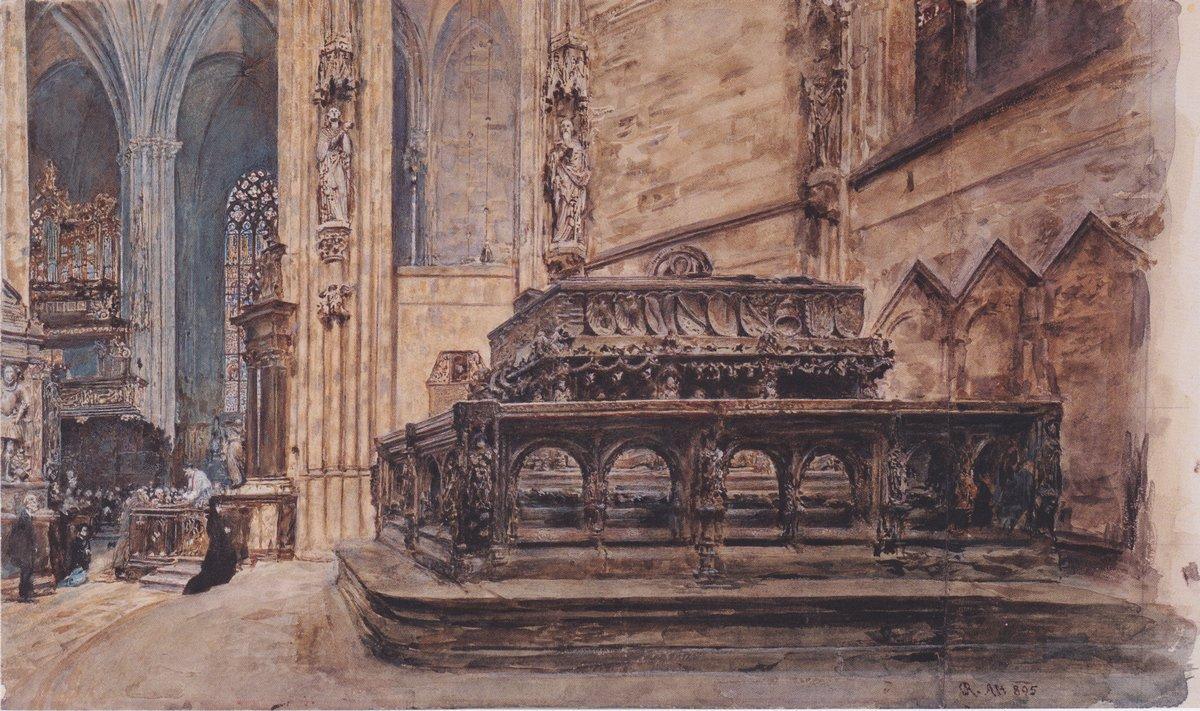The tomb of Emperor Frederick III in the Stephansdom in Vienna - Rudolf von Alt