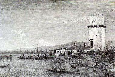 The Tow of Malghera - Canaletto