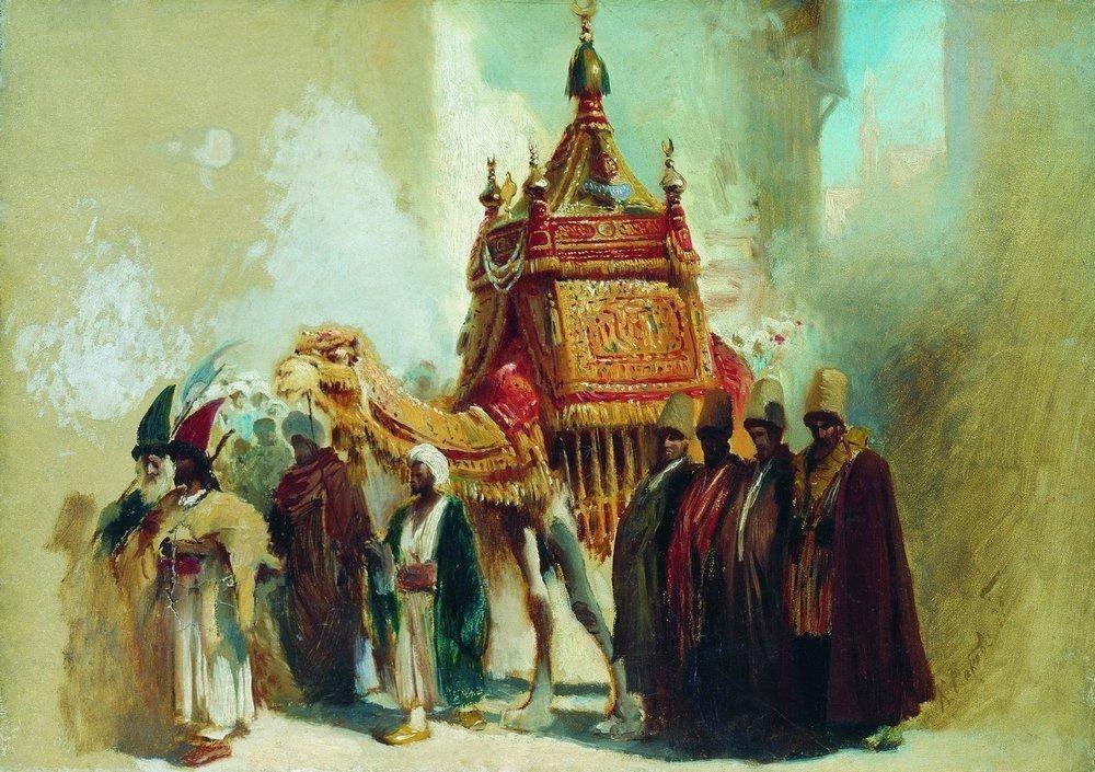 The transfer of the sacred carpet from Mecca to Cairo - Konstantin Makovsky
