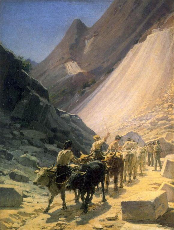 The Transportation of Marble at Carrara - Nikolai Ge