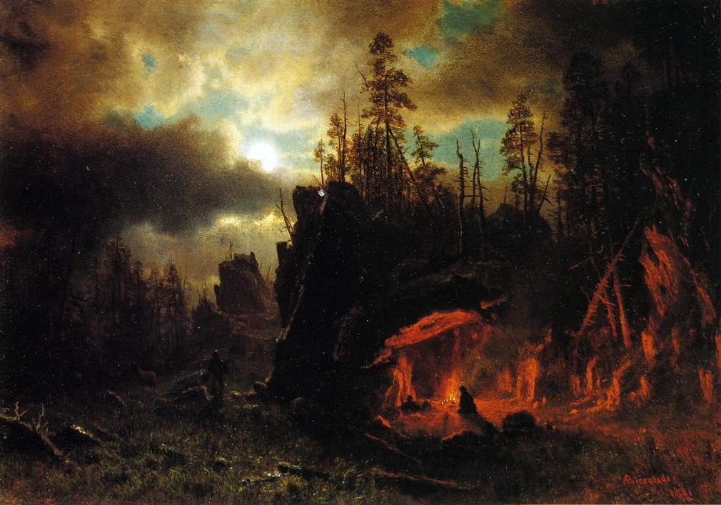 The Trapper's Camp - Albert Bierstadt
