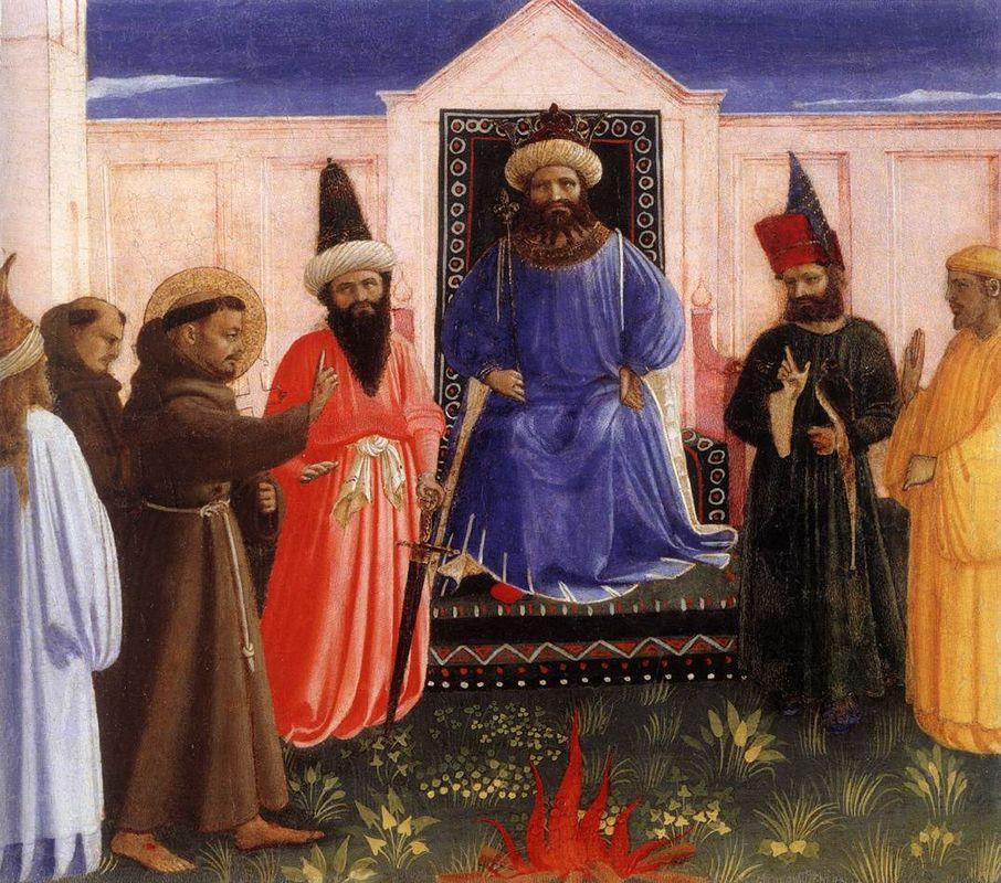 The Trial by Fire of St. Francis before the Sultan - Fra Angelico
