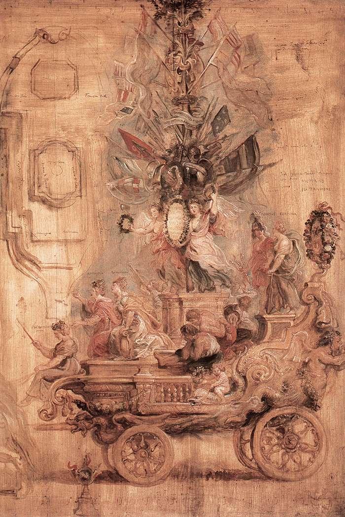 The Triumphal Car of Kallo (sketch) - Peter Paul Rubens