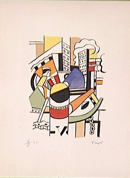 The tug in the city - Fernand Leger