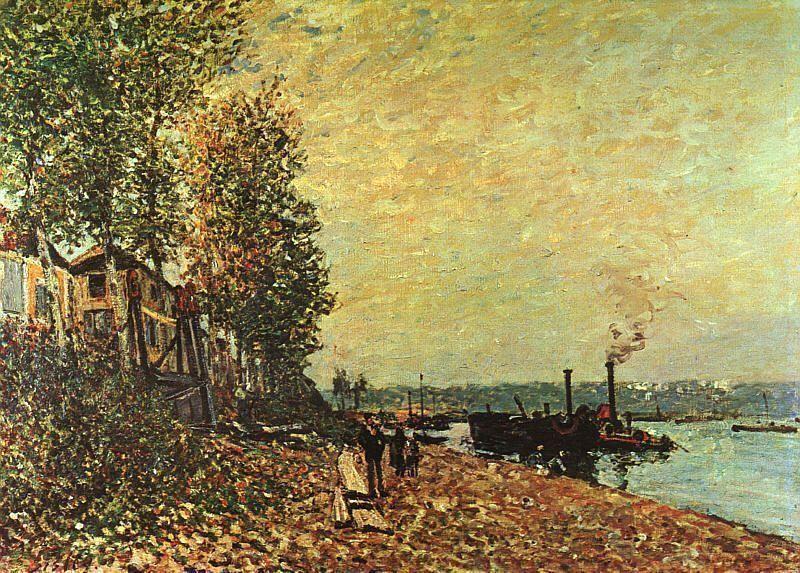 The Tugboat - Alfred Sisley