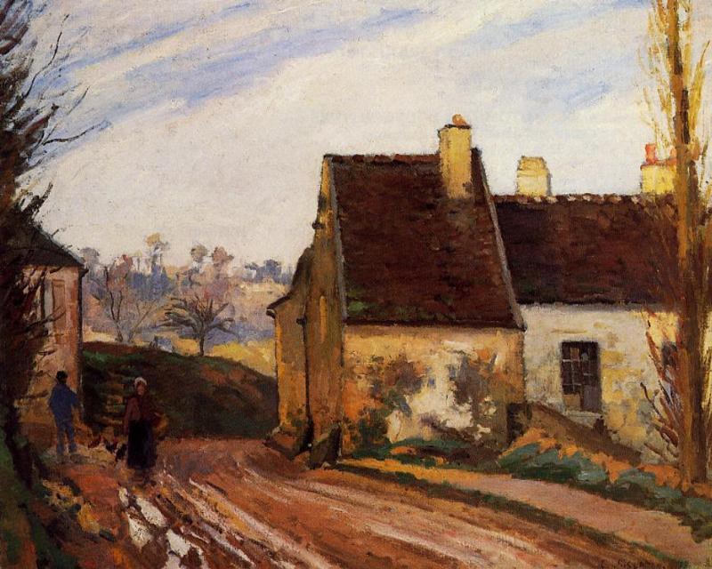 The Tumbledown Cottage near Osny - Camille Pissarro