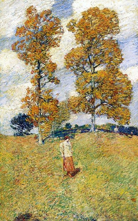 The Two Hickory Trees (aka Golf Player) - Childe Hassam