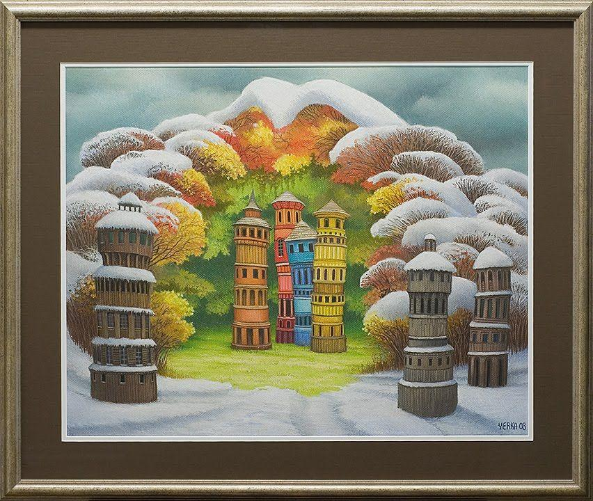 The unexpected attack of winter - Jacek Yerka