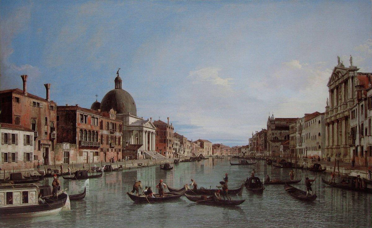 The Upper Reaches of the Grand Canal with S. Simeone Piccolo - Canaletto