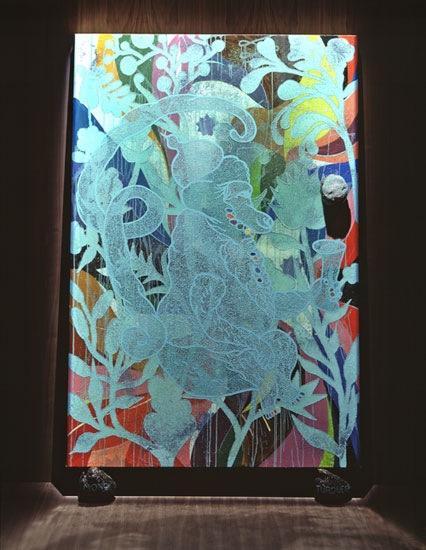 The Upper Room: Mono Turquesa - Chris Ofili
