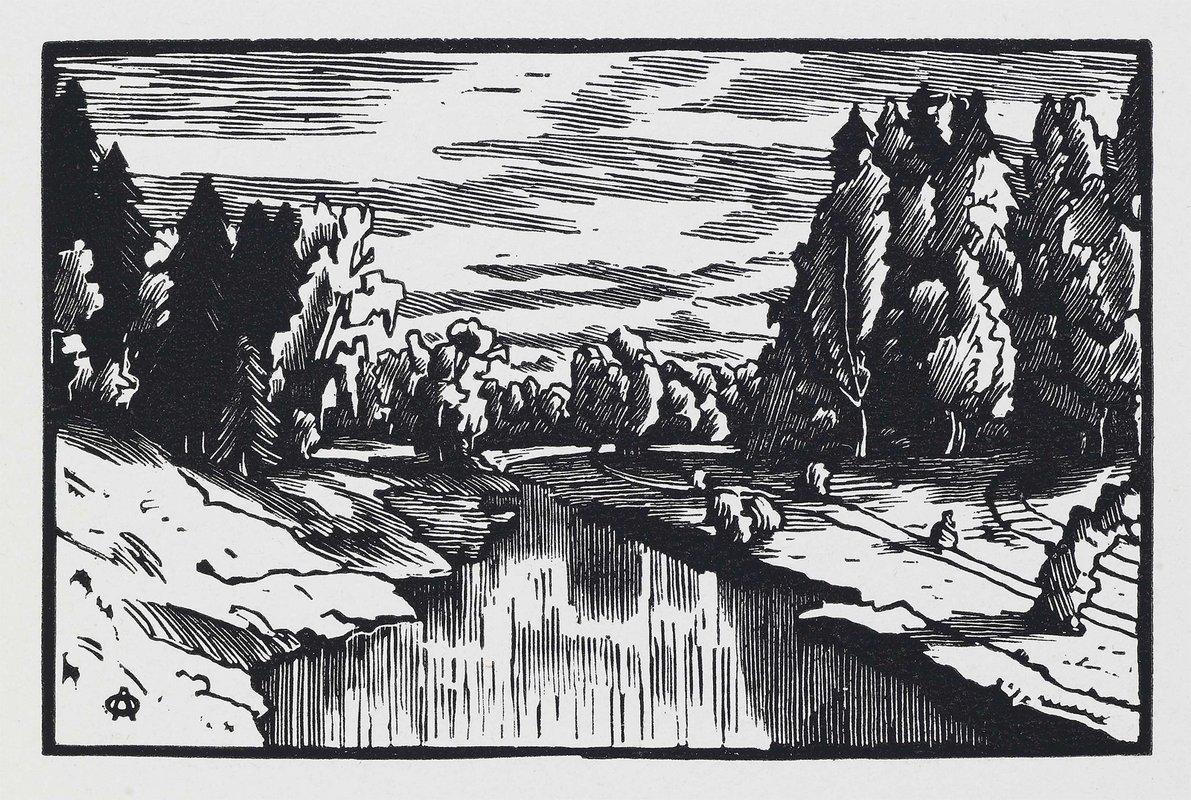 The valley Of the river Slavyanka - Anna Ostroumova-Lebedeva