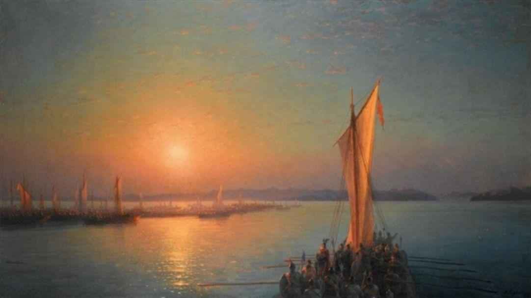 The Varangians on the Dnieper - Ivan Aivazovsky