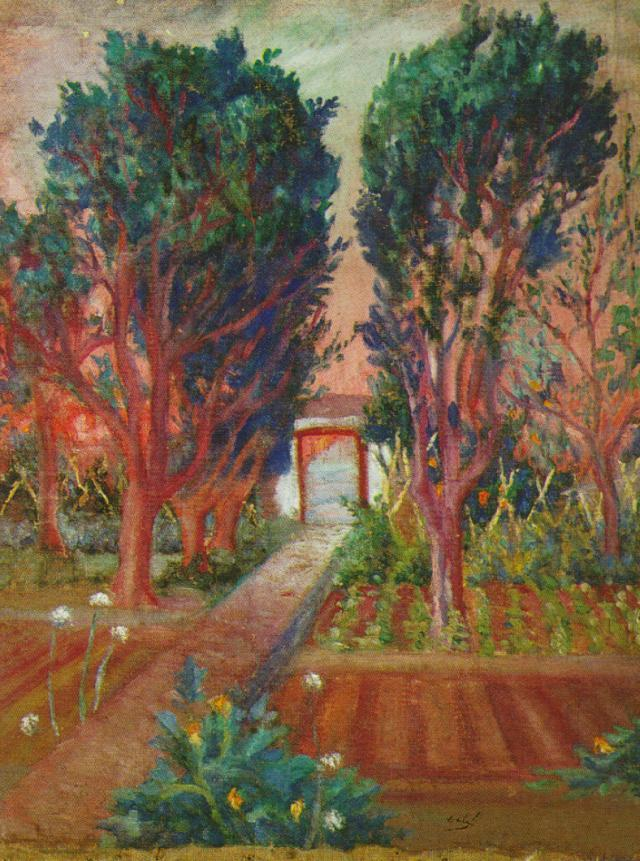 The Vegetable Garden of Llaner - Salvador Dali