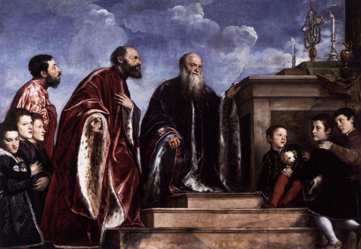 The Vendramin Family Venerating a Relic of the True Cross - Titian