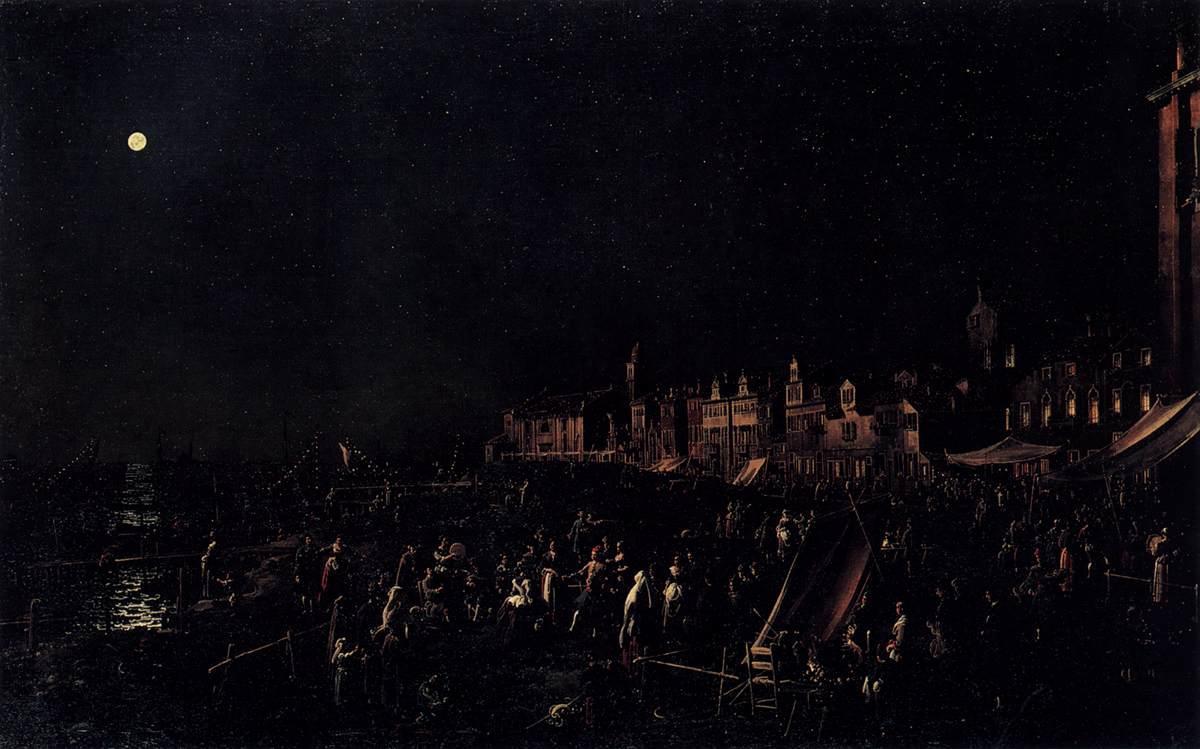 The vigil of Santa Marta - Canaletto