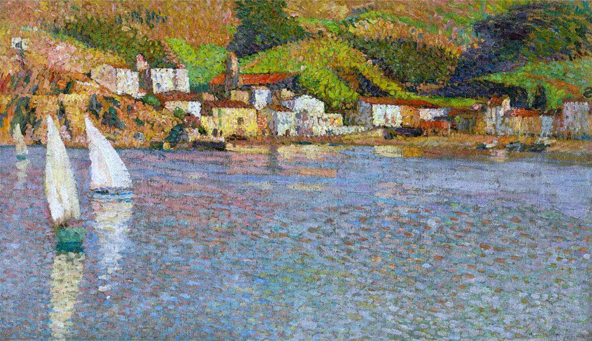 The village in Port of Collioure - Henri Martin