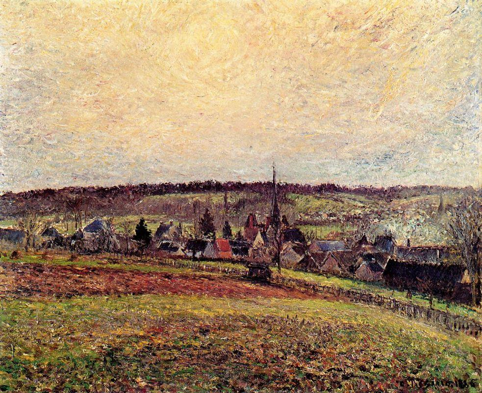 The Village of Eragny - Camille Pissarro